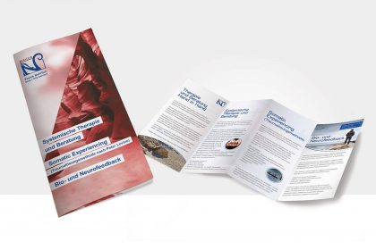 Folder / Flyer Design für die Praxis Nehrlich in Tübingen und Rottenburg