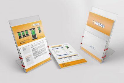 Infoflyer für iDTRONIC aus Ludwigshafen, gestaltet von der Azoro Werbeagentur, Hechingen