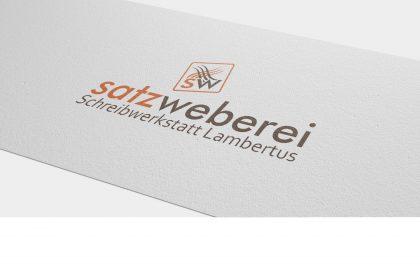 Logodesign für die satzweberei Tübingen