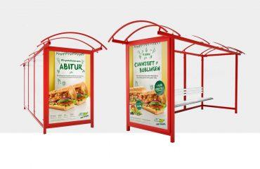 Plakatdesign für Subway