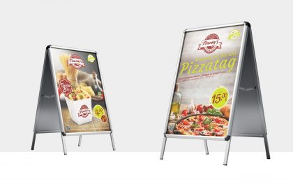 Plakatdesign für Frankys Tübingen