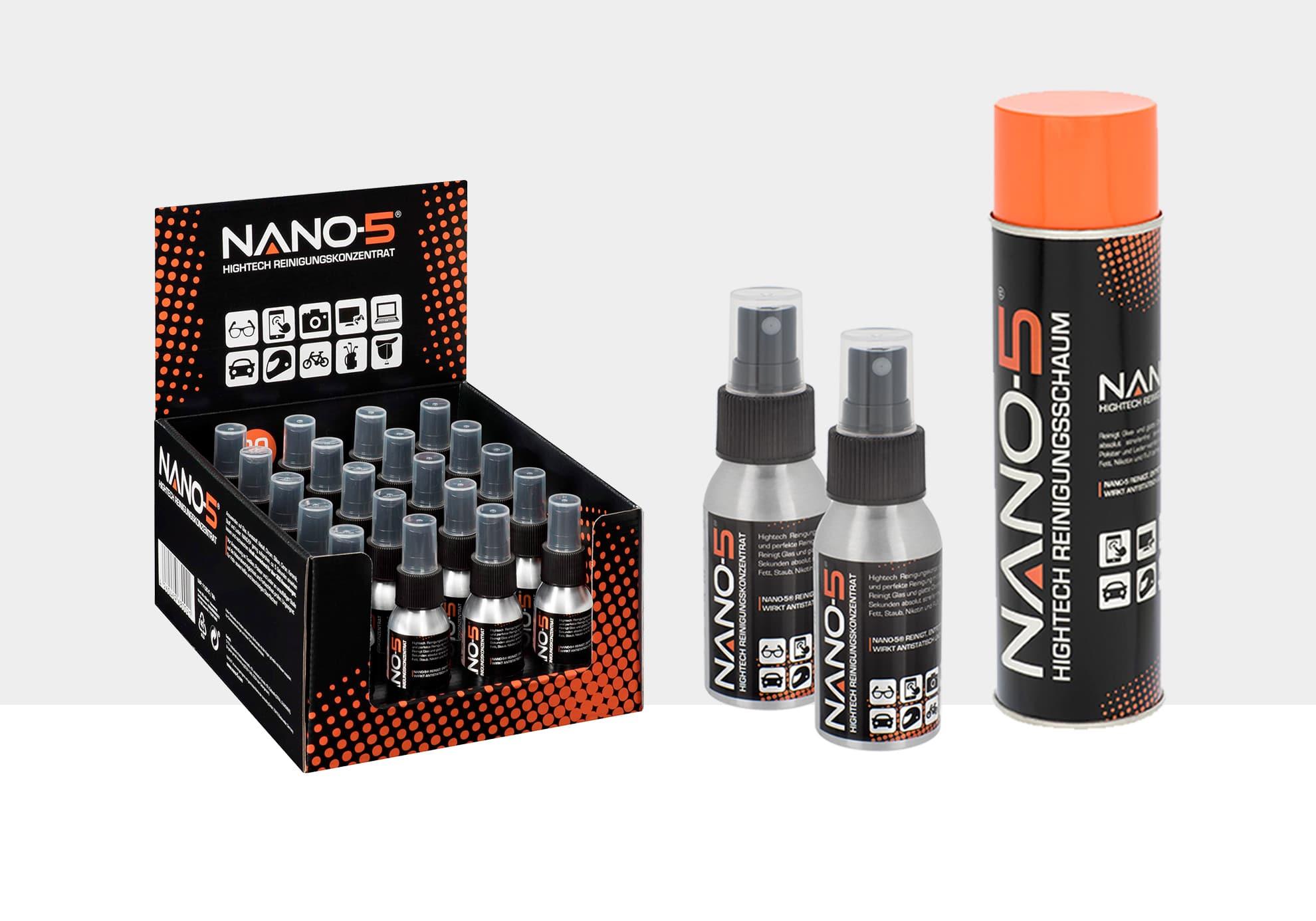 Produkt- & Verpackungsdesign für nano-5, Freiburg