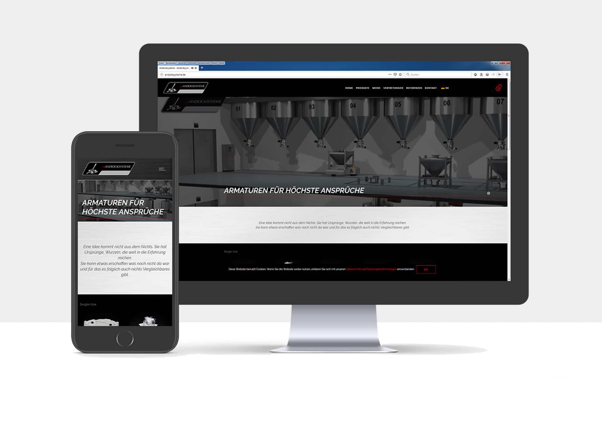 Webdesign für Andocksysteme