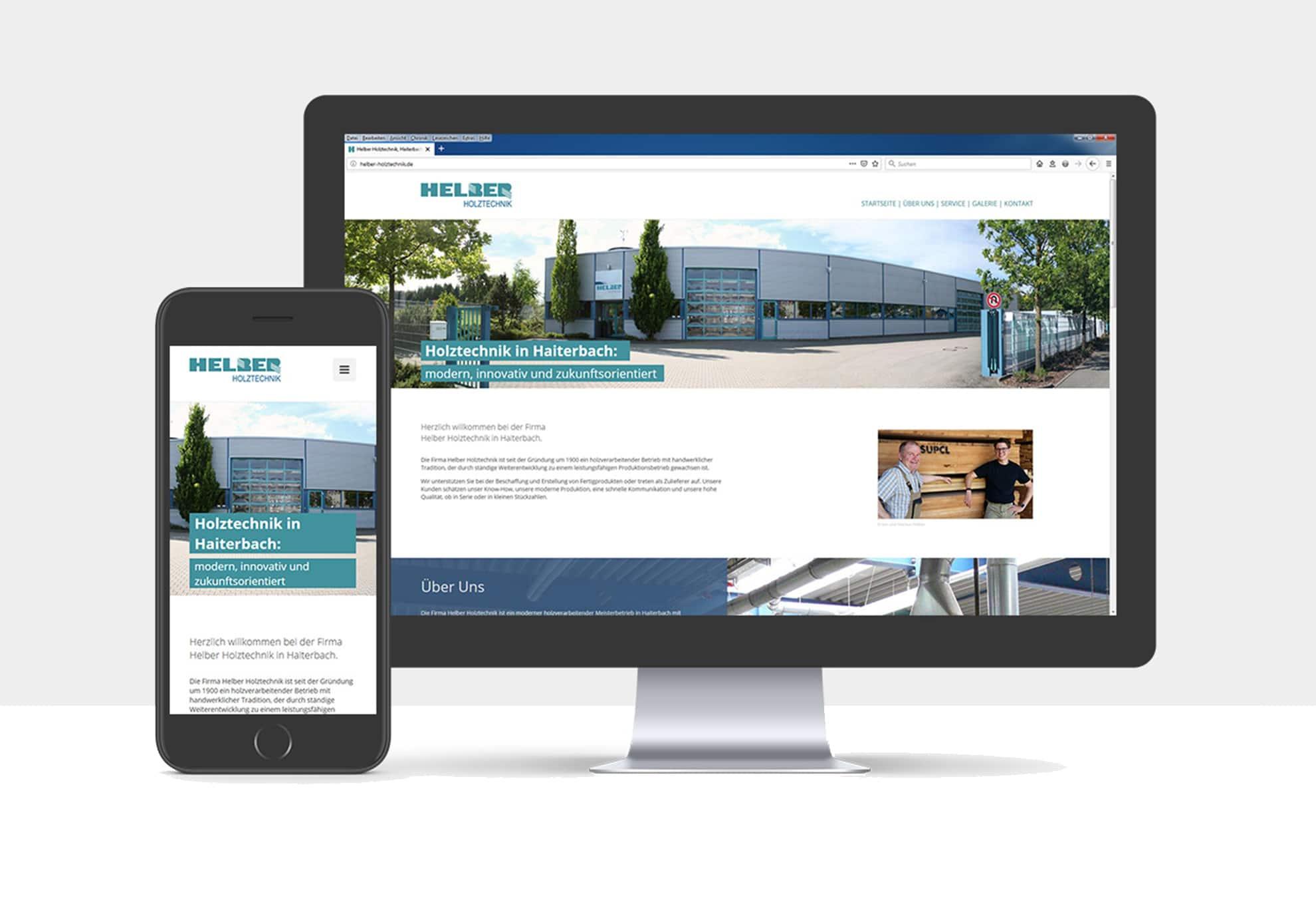 Webdesign für die Helber Holztechnik GmbH
