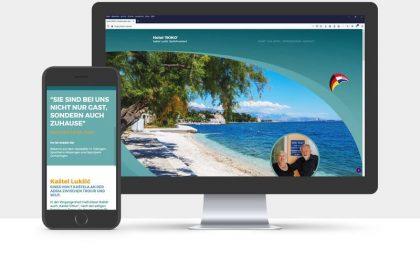 Webdesign für das Hotel ROKO, Split/Kroatien