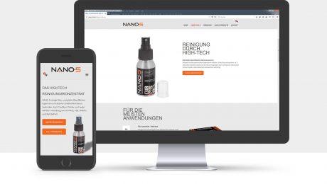 Webdesign und Onlineshop für Nano-5, Freiburg