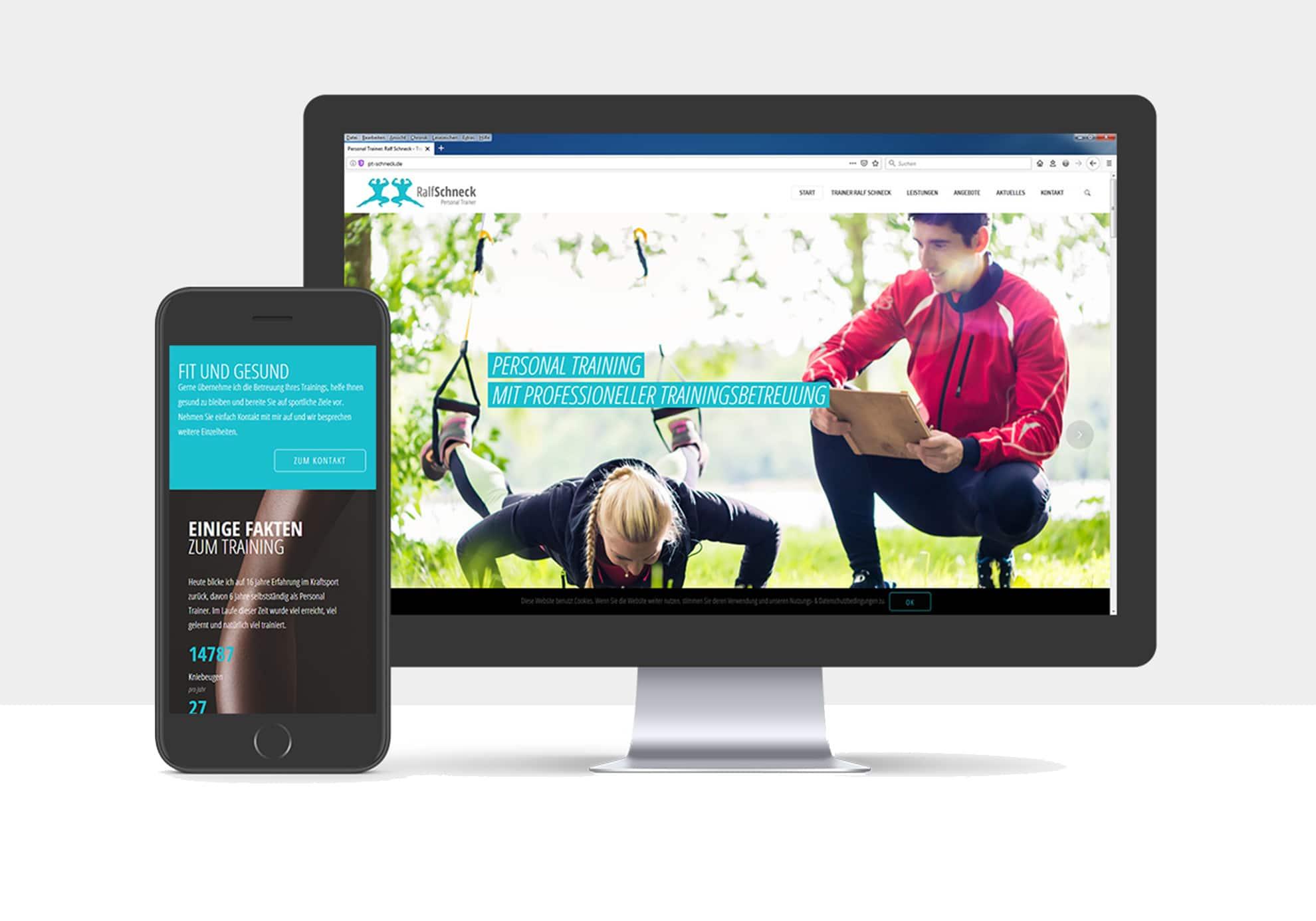 Webdesign für Personal Trainer Ralf Schneck, Tübingen