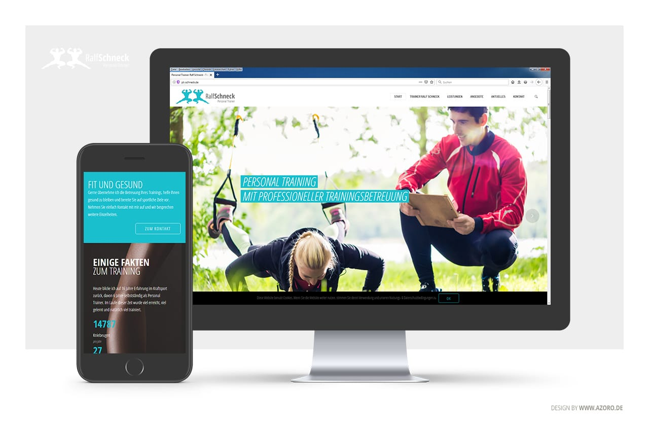 Webdesign für Personal Trainer Ralf Schneck, Dußlingen