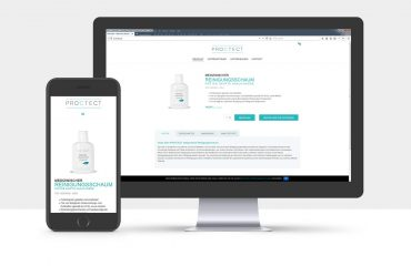 Webdesign & Onlineshop für die Proctect GmbH aus Tübingen