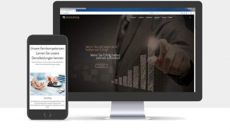 Webdesign für die co-nsulting GmbH
