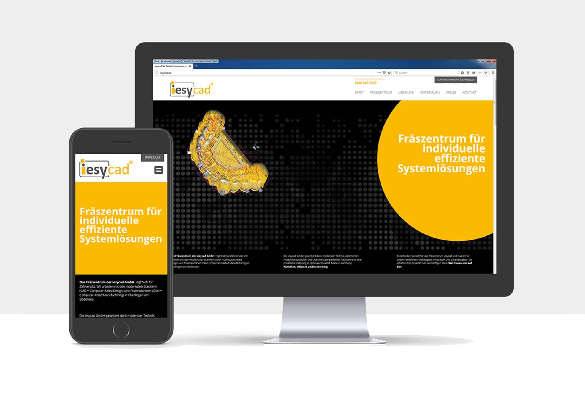 Webdesign für die iesyCAD GmbH