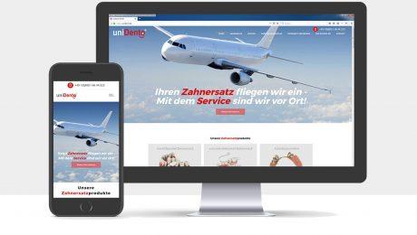 Webdesign für die uniDento GmbH