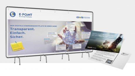 Werbebanner und Postkarten für die GVS, Stuttgart