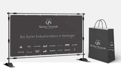 Werbemittel für Quartier Neustraße, Hechingen